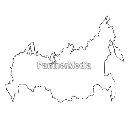 umriss karte von russland