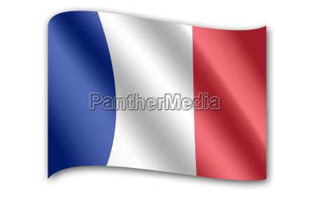 flagge, von, frankreich - 24560336