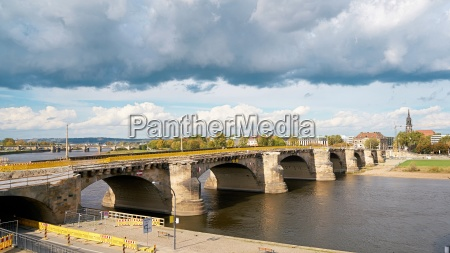 the historic augustus bridge in dresden