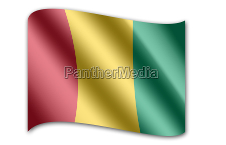 nationalflagge guinea afrika