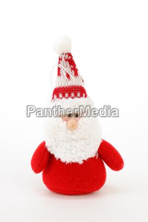 weihnachtsmann aus stoff plusch
