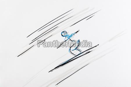 zeichnung skispringen kunstler gerhard kraus