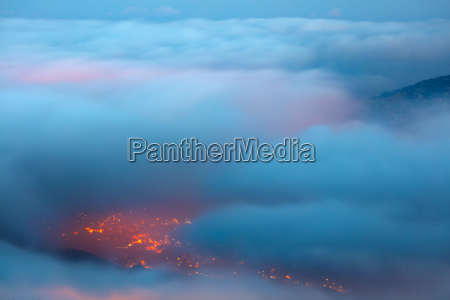 birds eye view on faraya mountain