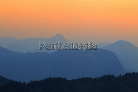 sunset stripsenjochhaus wilder kaiser tyrol austria