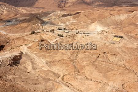 judaeische wueste bei masada israel