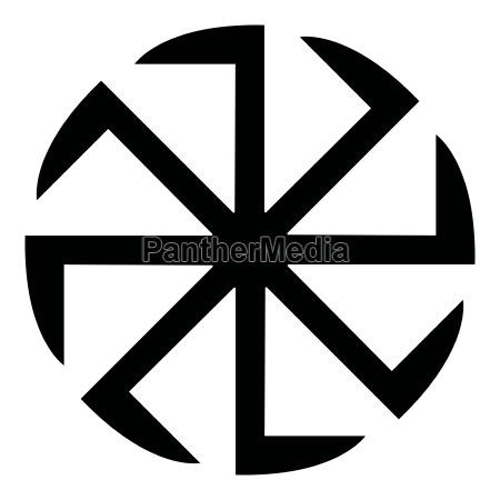 slawische slavonis symbol kolovrat zeichen sonne