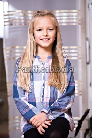 9 year old girl portrait