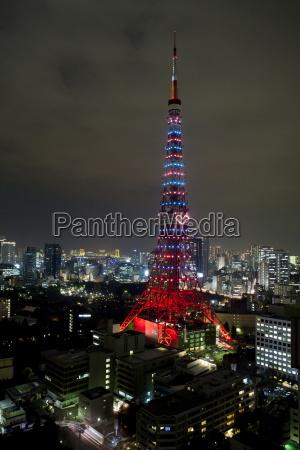 tokyo tower tokyo bei nacht