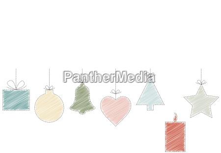 scribble christmas hangtags