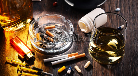 suchtstoffe einschliesslich alkohol zigaretten und drogen