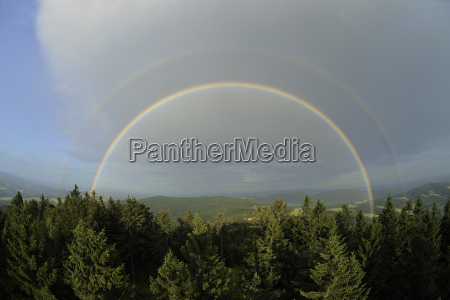 double rainbow view to the east