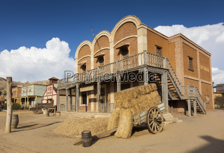 mini hollywood film set desert of