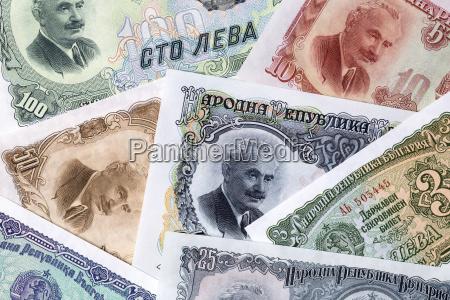 bulgarian lev a background