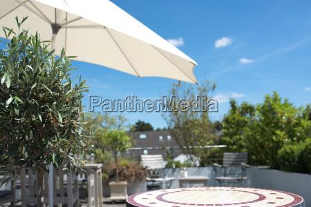 summer on a sun terrace