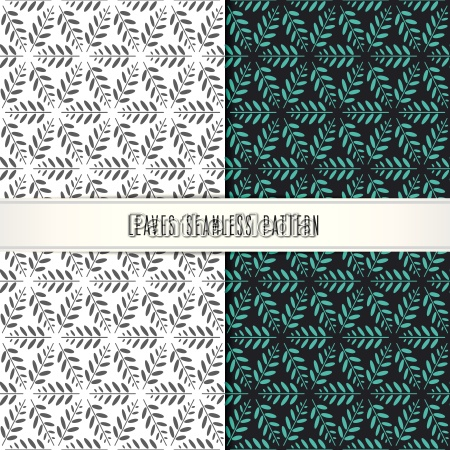 vector leaves seamless pattern modern design