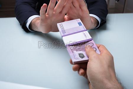 close up of a businessmans hand