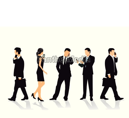group of people with mobile phone