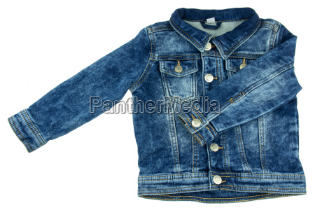 denim jacket with removed hood and