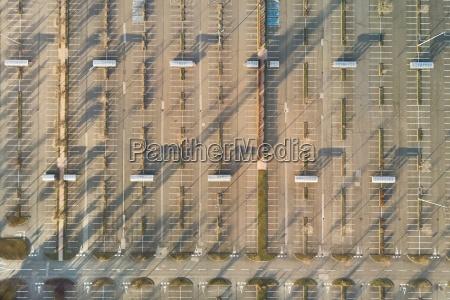 empty carpark aerial