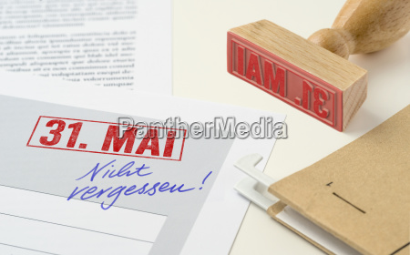 red stamp on documents may 31