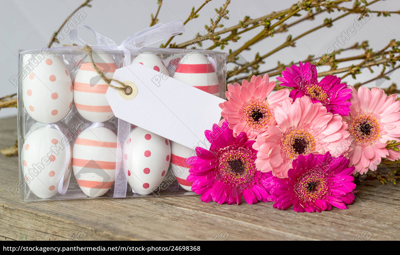 easter, eggs, with, dots, and, stripes - 24698368