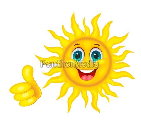 smiling beautiful sun