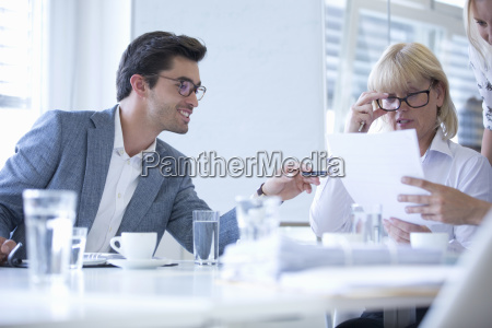 business meeting around table in modern