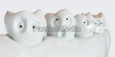 tooth human cartoon 3d rendering