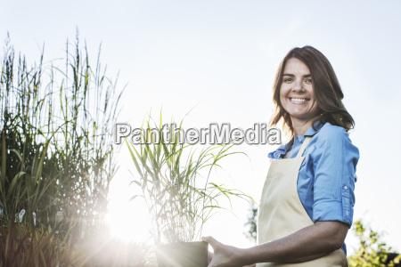 young caucasian woman employee of a
