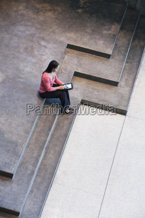 looking down on a mixed race