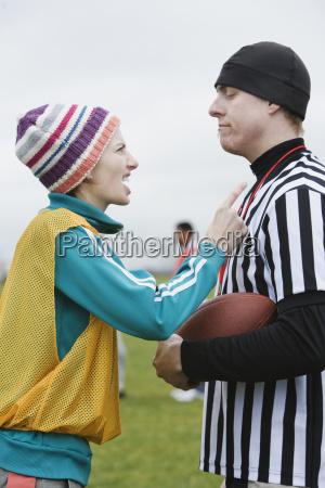 caucasian woman team member arguing with