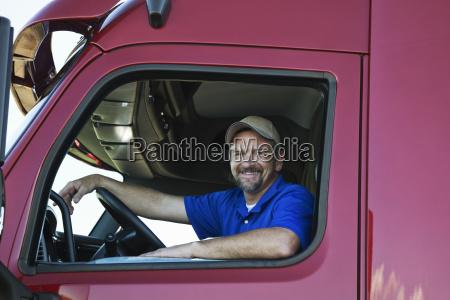 portrait of a caucasian man driver