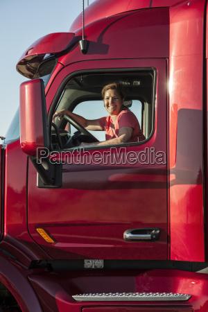 portrait of a caucasian woman driver