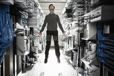 a caucasian man lab technician appearing