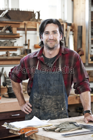 caucasian man factory worker at a