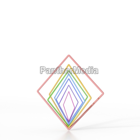 abstrakt ausbalancieren bunte quadrate 3d rendering