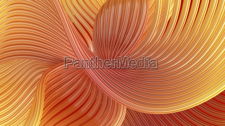 abstract swirling waves 3d rendering