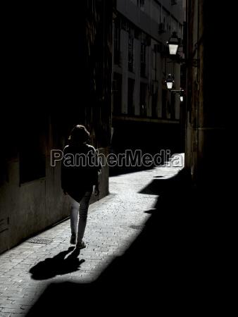 spain palma de mallorca woman walking