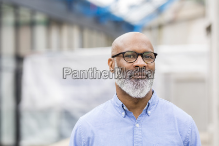 portrait of smiling businessman with beard