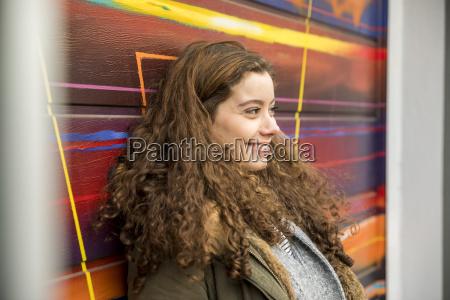 portrait of happy eenage girl