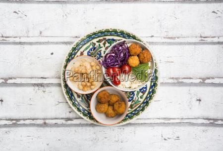 sweet potato balls couscous hummus and