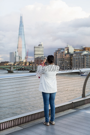 uk london woman standing on a