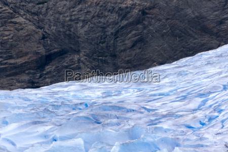 usa alaska juneau mendenhall glacier rock