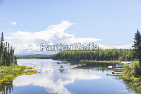 usa alaska lake near talkeetna