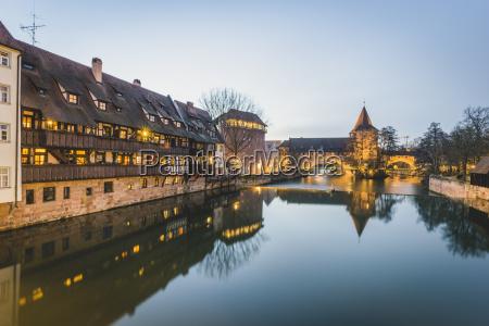 germany bavaria nuremberg old town hallertor