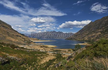 neuseeland suedinsel crown range lake wakatipu