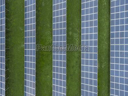 germany bavaria aerial view of solar