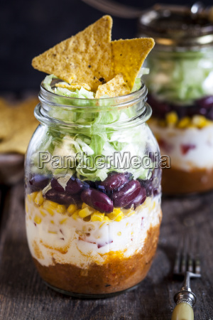 taco salad chili con carne sour