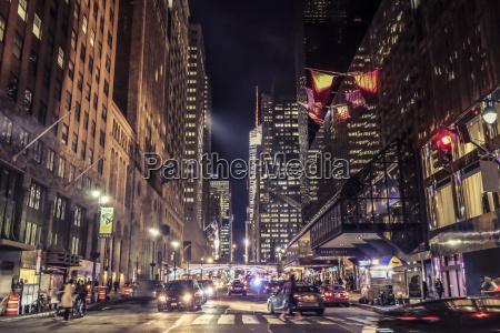usa new york city street scene