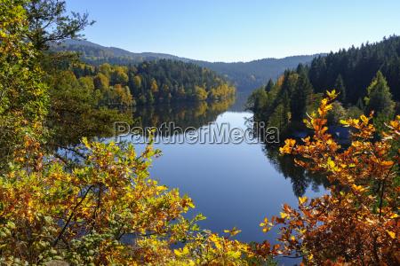 germany bavaria bavarian forest hoellensteinsee dam